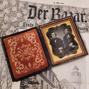Antique Victorian Daguerreotype of two men.